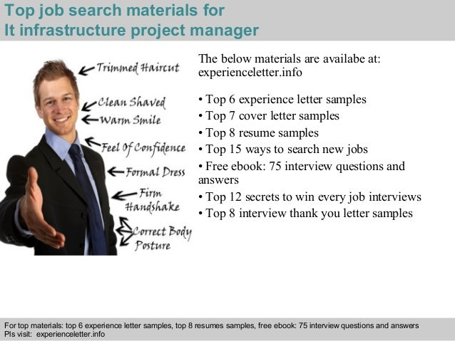 Resume manager it infrastructure