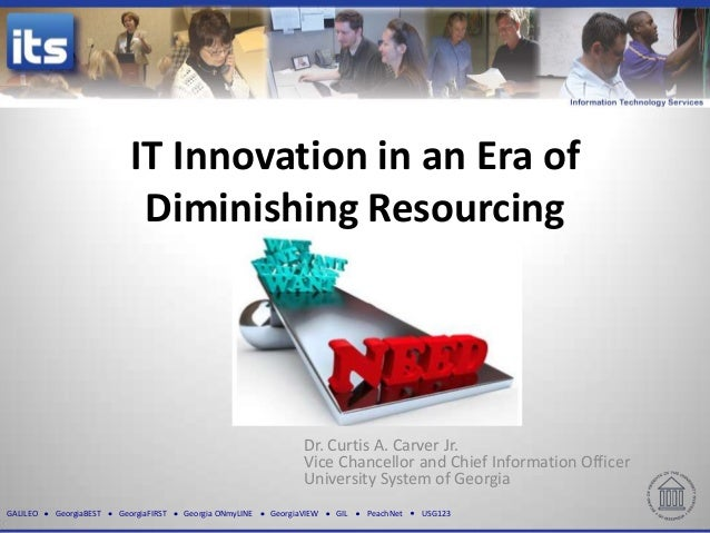 It innovation in an era of diminshing resourcing