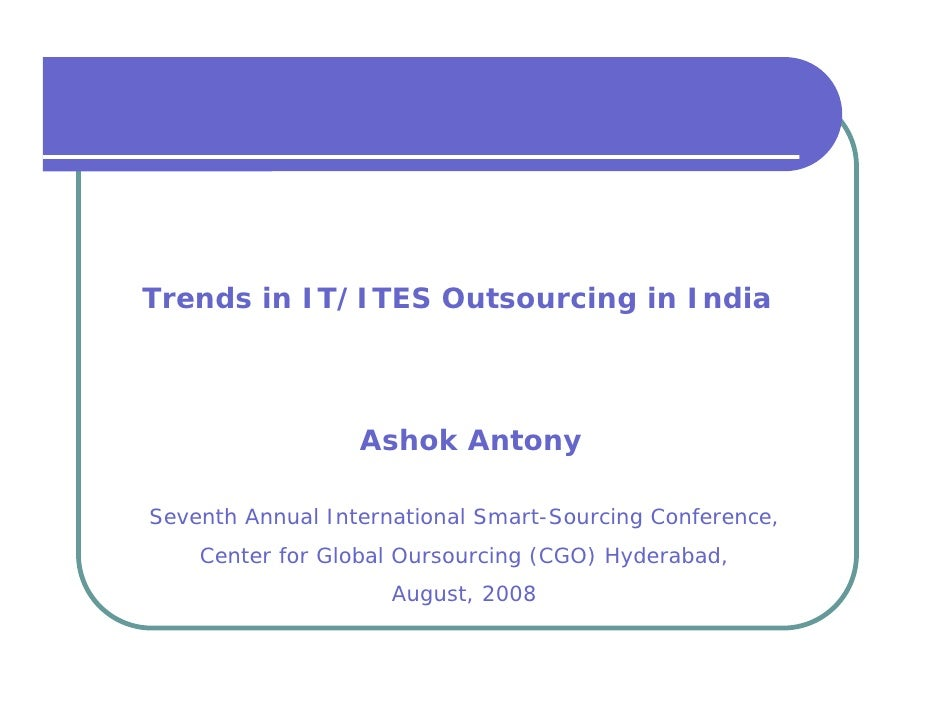 IT-ITES Outsourcing Trends In India