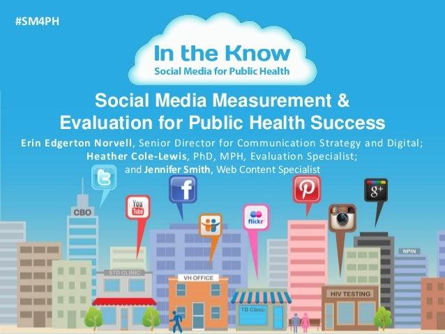 1Social Media Measurement &Evaluation for Public Health Success#SM4PHErin Edgerton Norvell, Senior Director for Communicat...