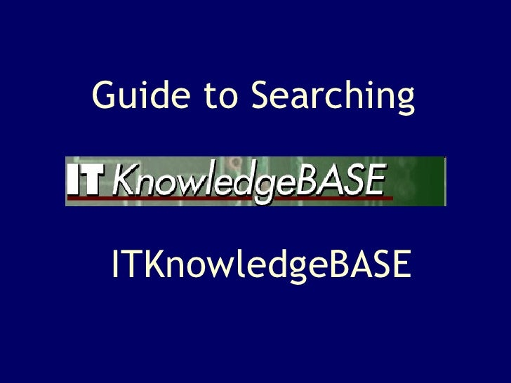 ITKnowledgeBASE [ENG]
