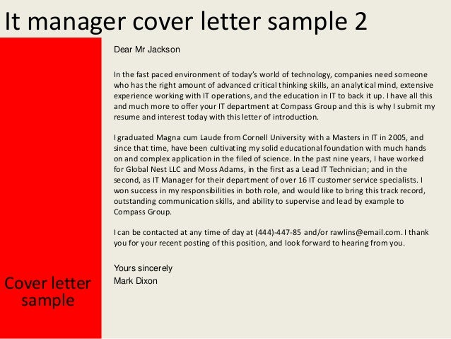 Cover Letter Discuss Anyfurther Details