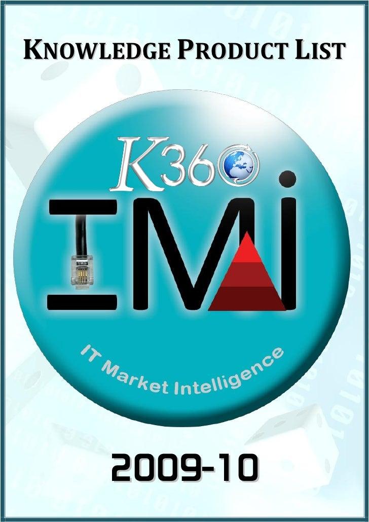 Information Technology lnsights Market Intel   Partial Product List