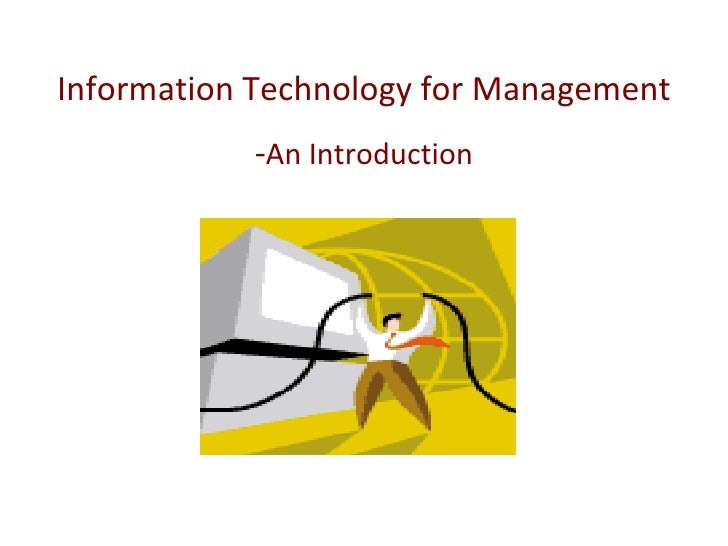 Information Technology for Management - An Introduction