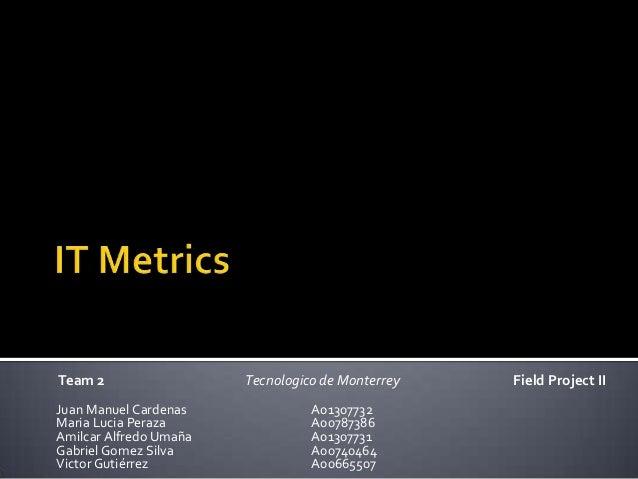 IT Metrics Presentation