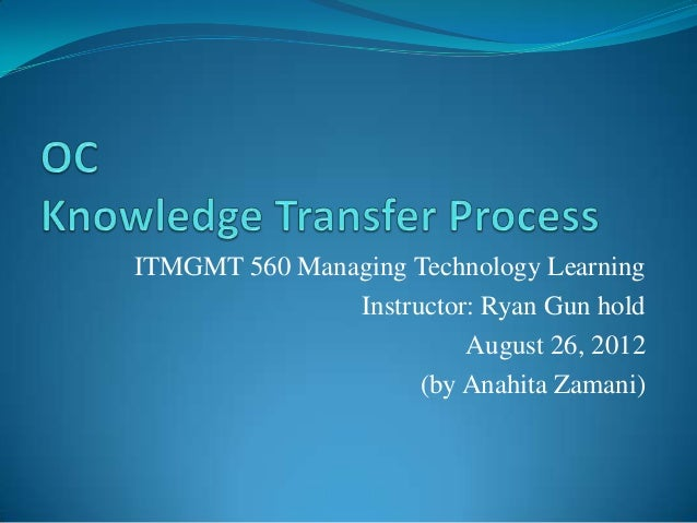 Knowledge Capture Process
