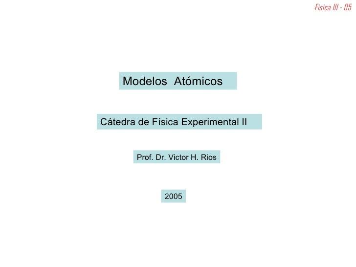 Itm Modelos AtóMicos