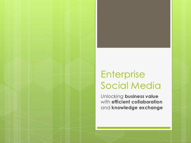 ITmoov 2012 - Enterprise Social Networking