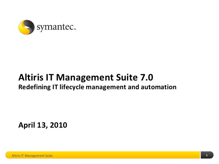 Altiris IT Management Suite 7