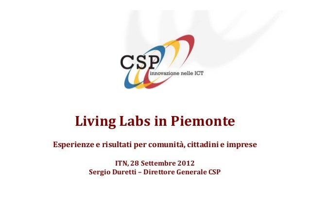 Itn living labs-settembre2012