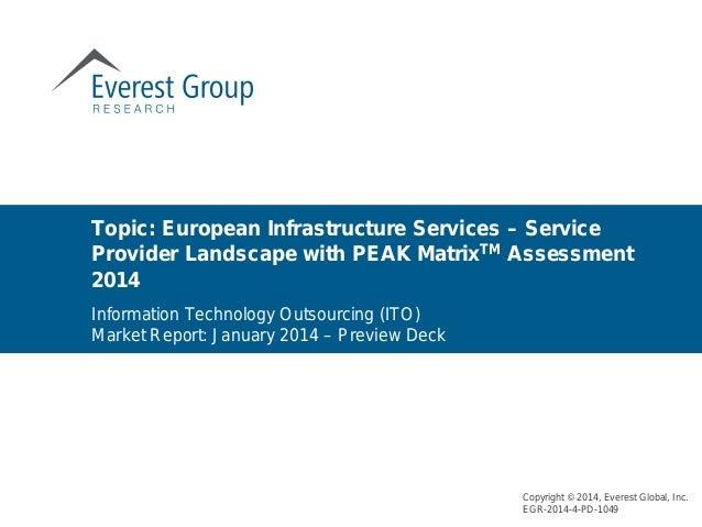 European Infrastructure Services – Service Provider Landscape with PEAK Matrix™ Assessment 2014