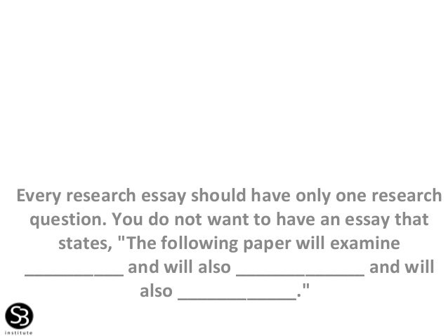 Every research essay begins with