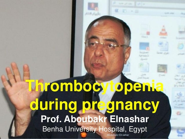 Thrombocytopenia during pregnancy