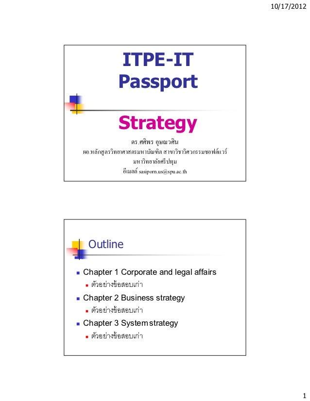 10/17/2012             ITPE-IT             Passport              Strategy                   ดร.ศศิพร อุษณวศินผอ.หลักสู ตรว...