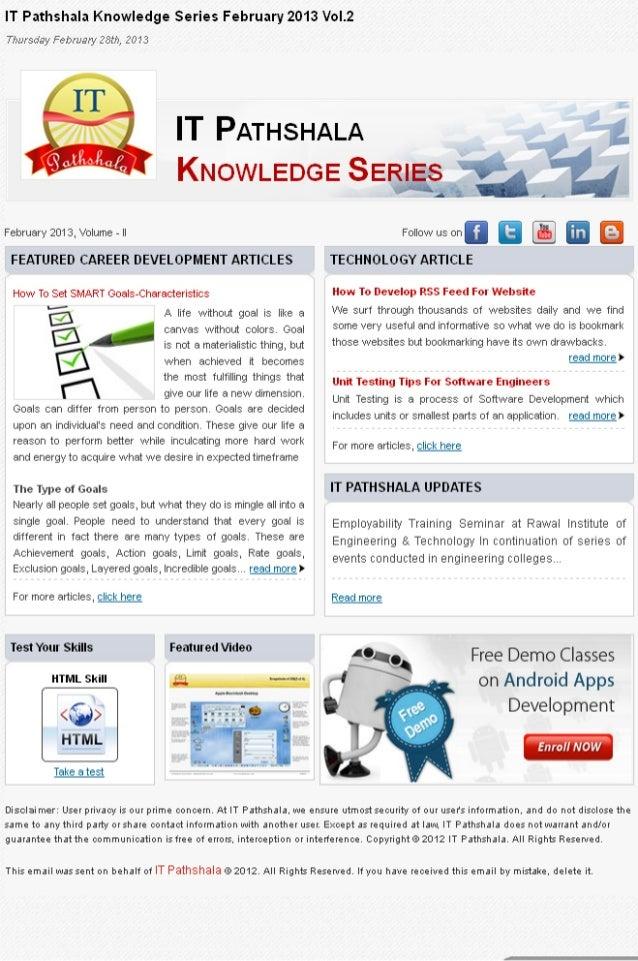 It pathshala knowledge series february 2013 vol 2