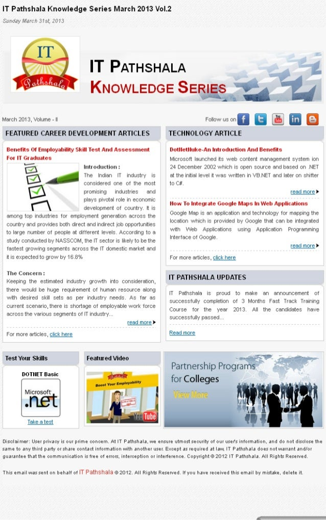 It pathshala knowledge series march 2013 vol 2