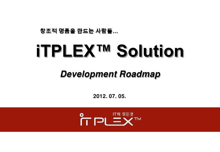 Itplex 솔루션로드맵