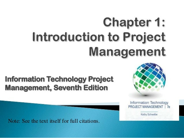 Information Technology Project Management - part 01