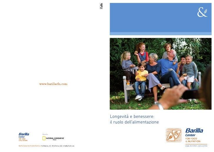 Position Paper: Longevità e benessere: il ruolo dell'alimentazione