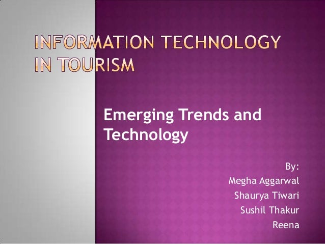 emerging trends and technologies in tourism