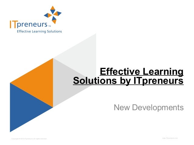 Effective Learning                                                    Solutions by ITpreneurs                             ...