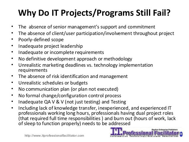 Seven causes of project failure