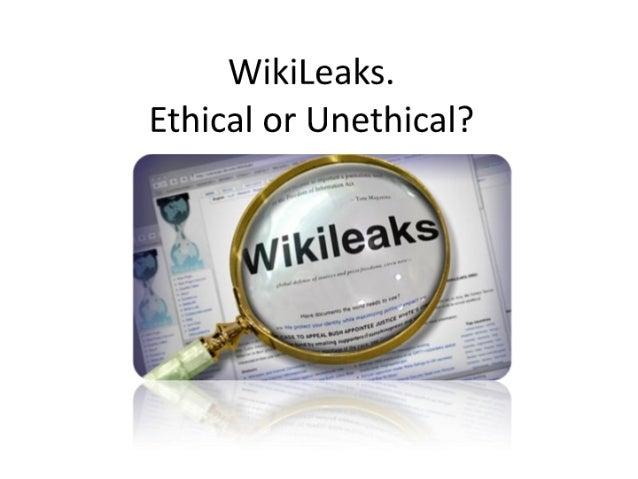 WikiLeaks and Ethics