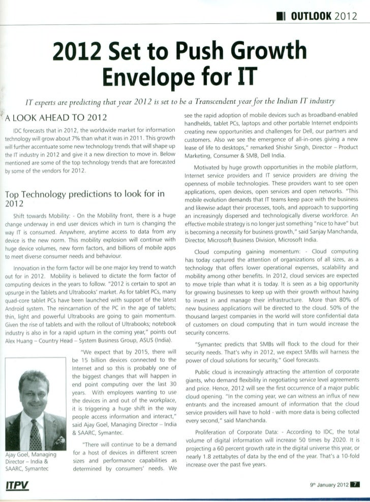 2012 Set to Push Growth Envelope for IT
