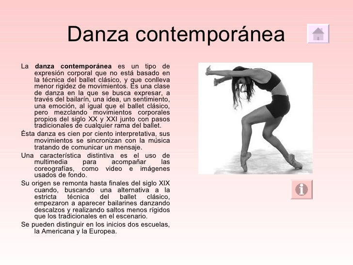 La danza for Definicion de contemporanea