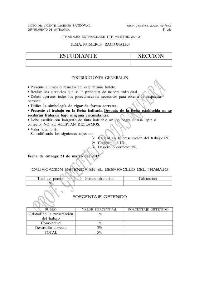 LICEO DR. VICENTE LACHNER SANDOVAL                        PROF. GRETTEL ROJAS RIVERADEPARTAMENTO DE MATEMÁTICA            ...