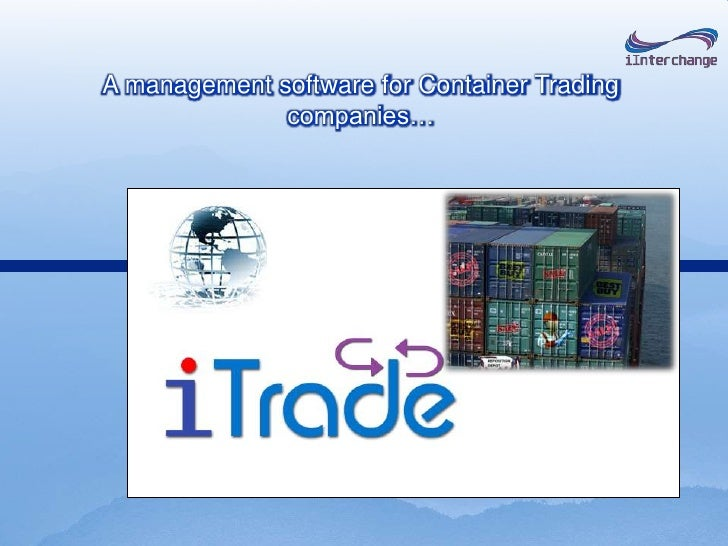 A management software for Container Trading companies…<br />
