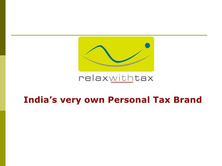 ™ India's very own Personal Tax Brand