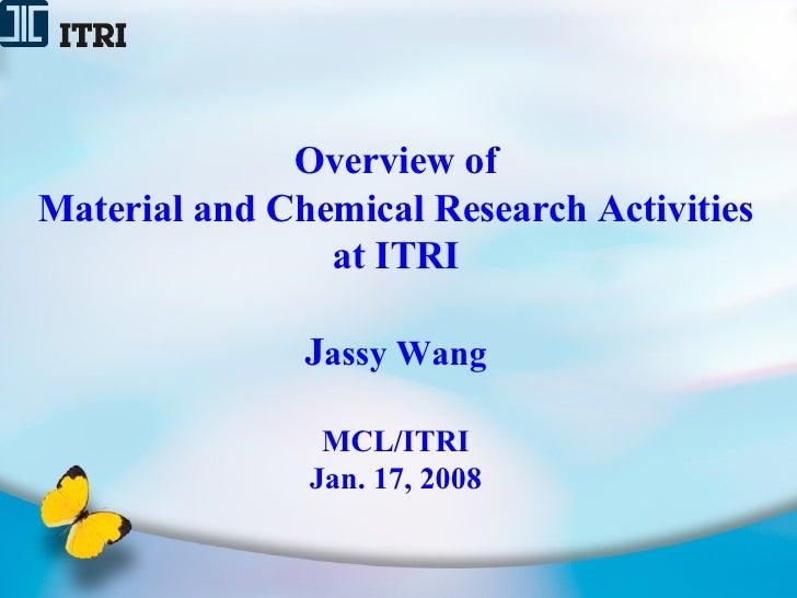ITRI Jassy Wang