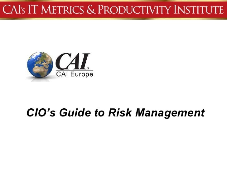 CIO's Guide to Risk Management