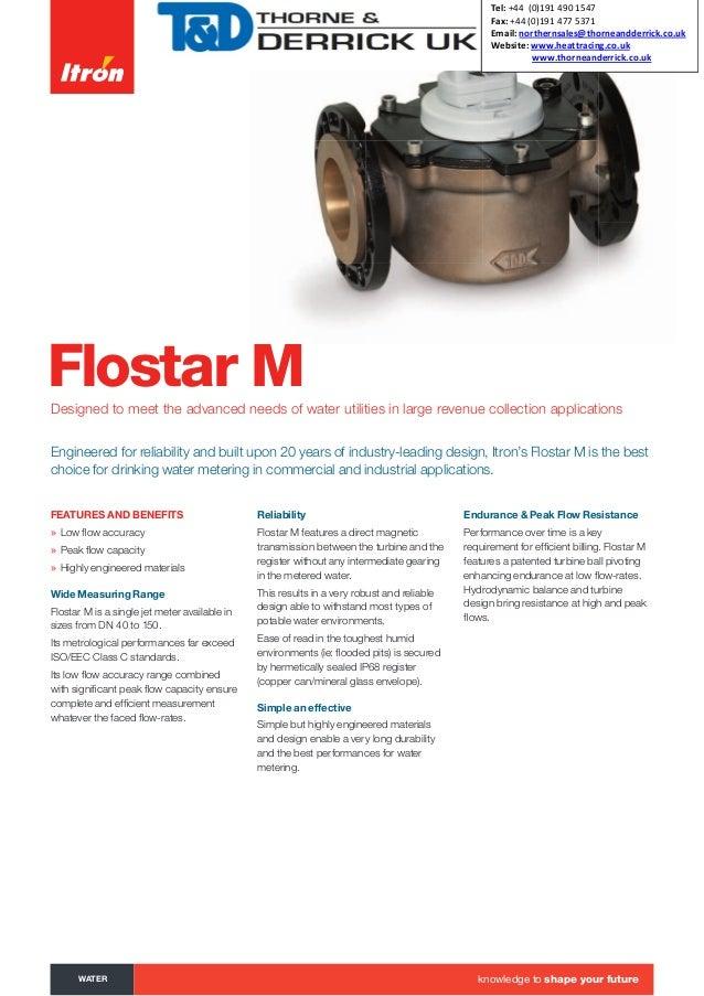 Itron Flostar M Single Jet Meter Brochure English