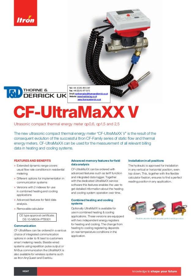 CF-UltraMaXX VUtrasonic compact thermal energy meter qp0,6, qp1,5 and 2,5 The new ultrasonic compact thermal energy meter ...