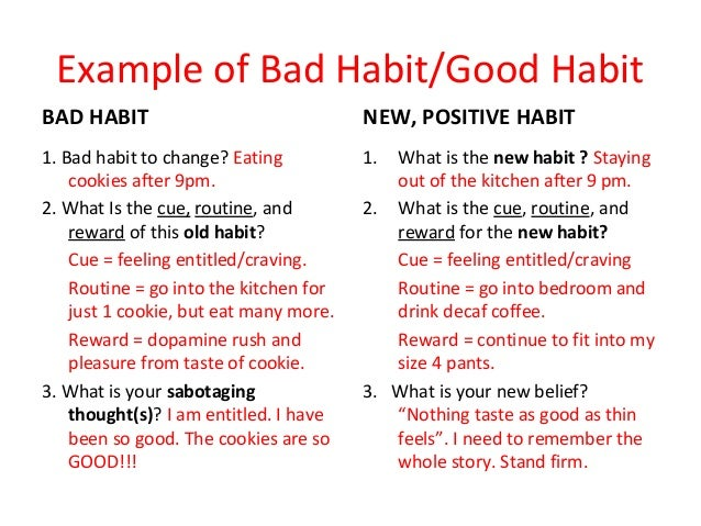 Types of bad habits essay
