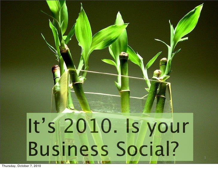 It's 2010. is your business social. milena regos