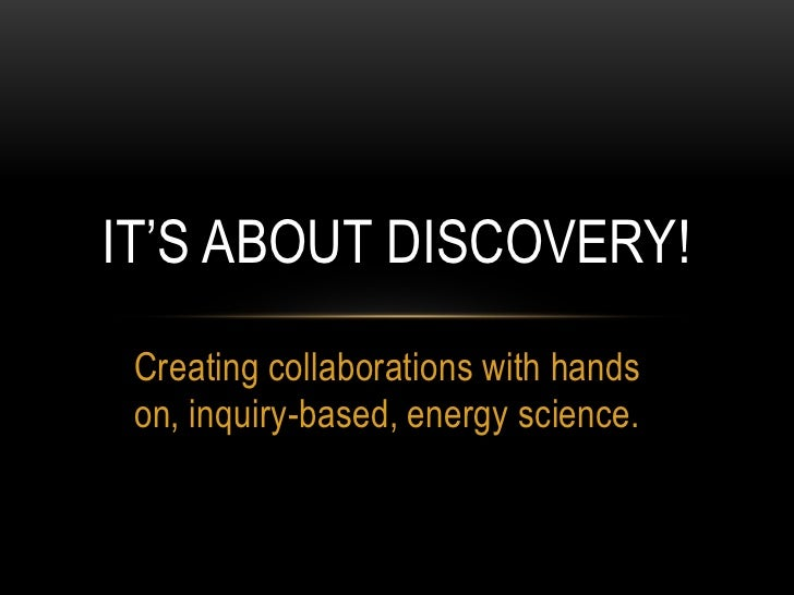 It's about discovery!