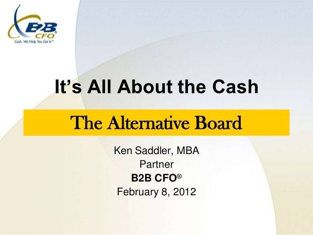 Its all about the cash - Ken Saddler