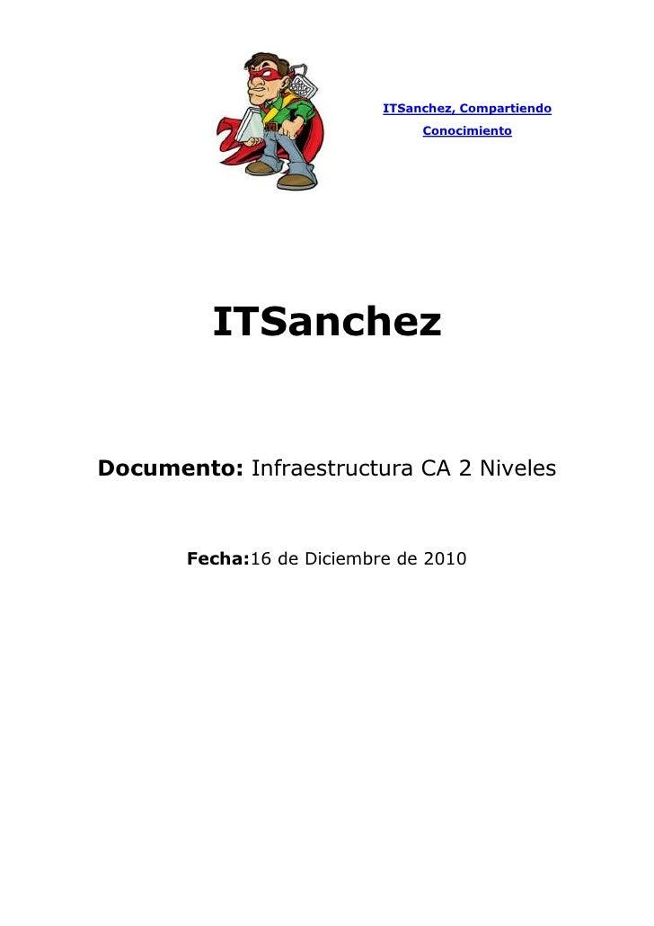 """ITSanchez, Compartiendo Conocimiento<br />ITSanchez<br />Documento: Infraestructura CA 2 Niveles  <br />Fecha:  TIME @ """"dd..."""
