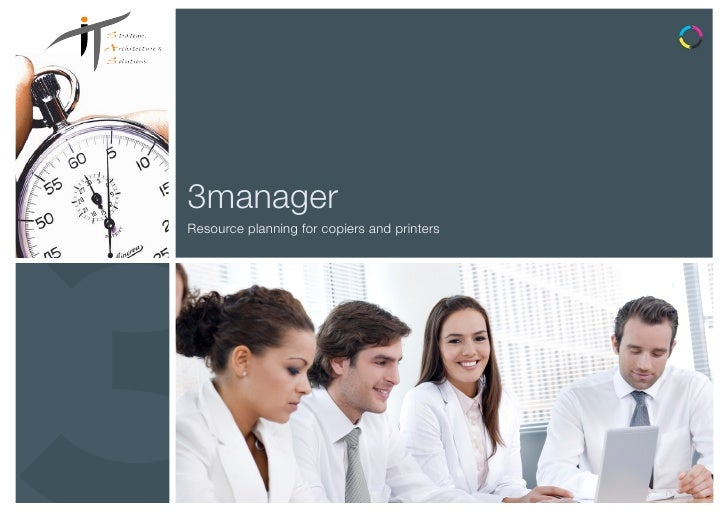 3managerResource planning for copiers and printers