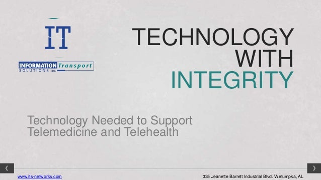 TECHNOLOGY                               WITH                          INTEGRITY    Technology Needed to Support    Teleme...