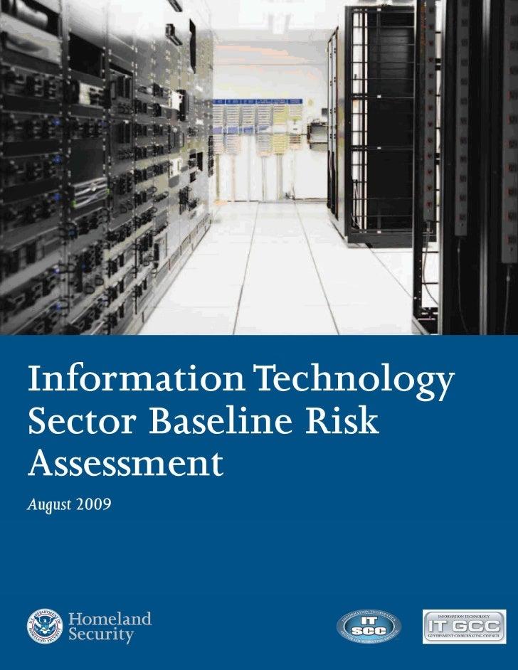 It Sector Risk Assessment Report Final