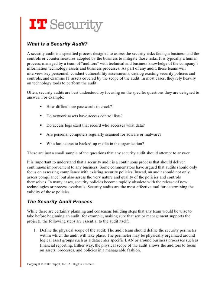 It Security Audit Process
