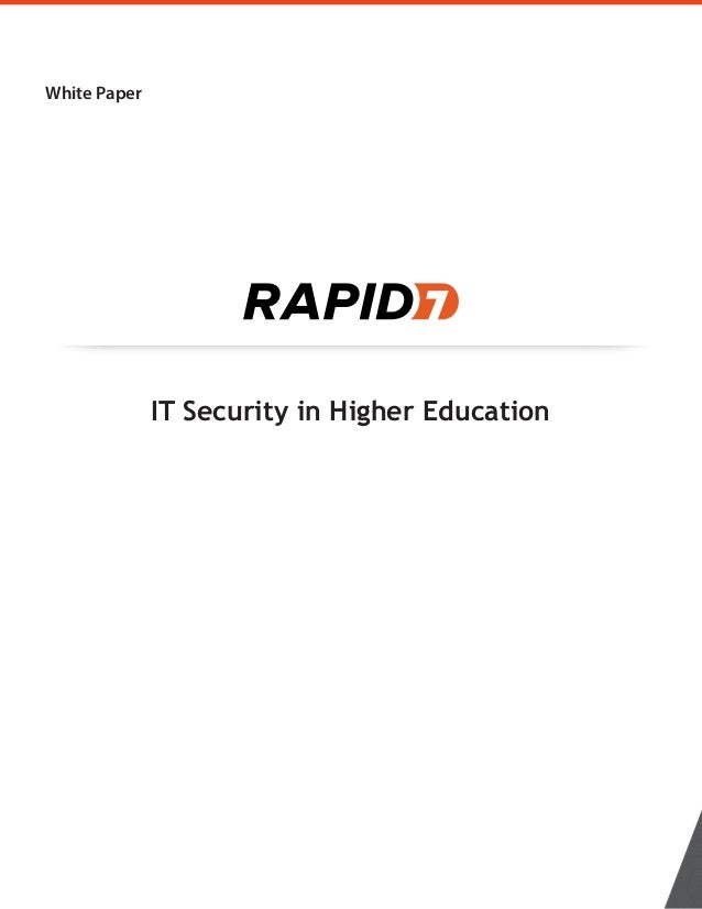 White Paper IT Security in Higher Education