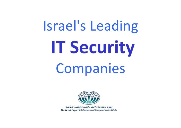 Israels Leading IT Security  Companies
