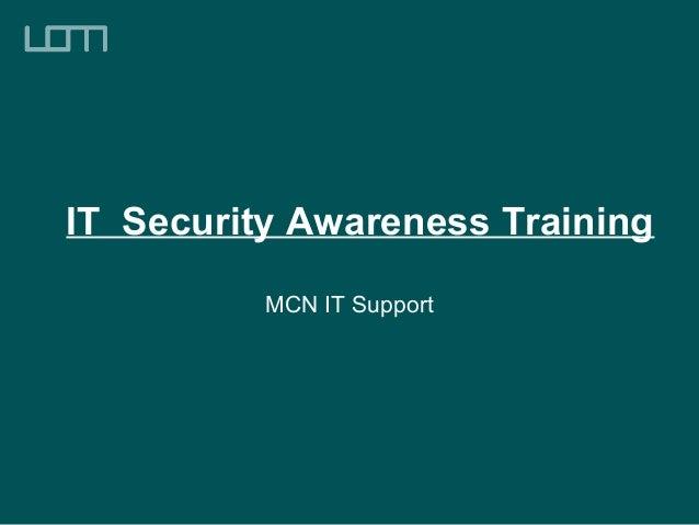 It security training