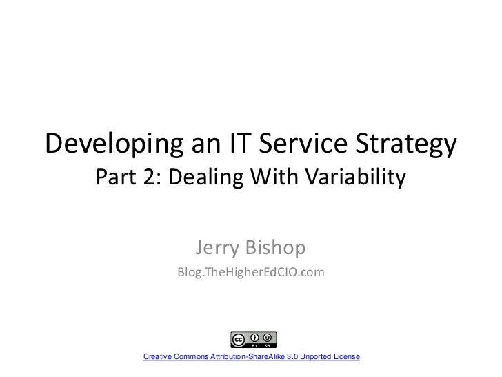 IT Service Strategy Part 2