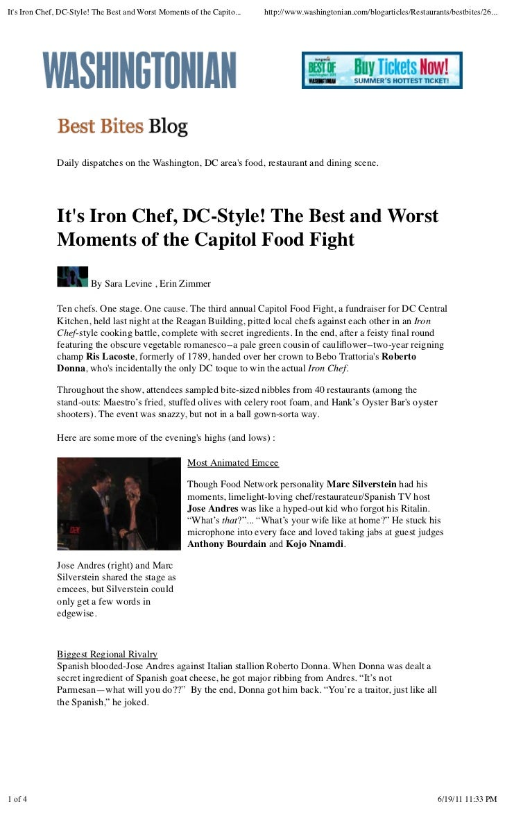 It's iron chef, dc style! the best and worst moments of the capitol food fight - best bites blog (washingtonian.com)